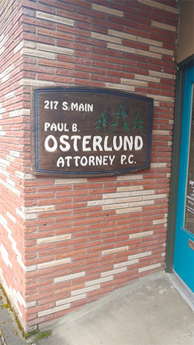 Law office of David James Robinson and Paul Osterlund in Toledo, Oregon.